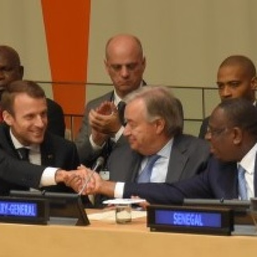 Macky Sall and Emmanuel Macron together for Education